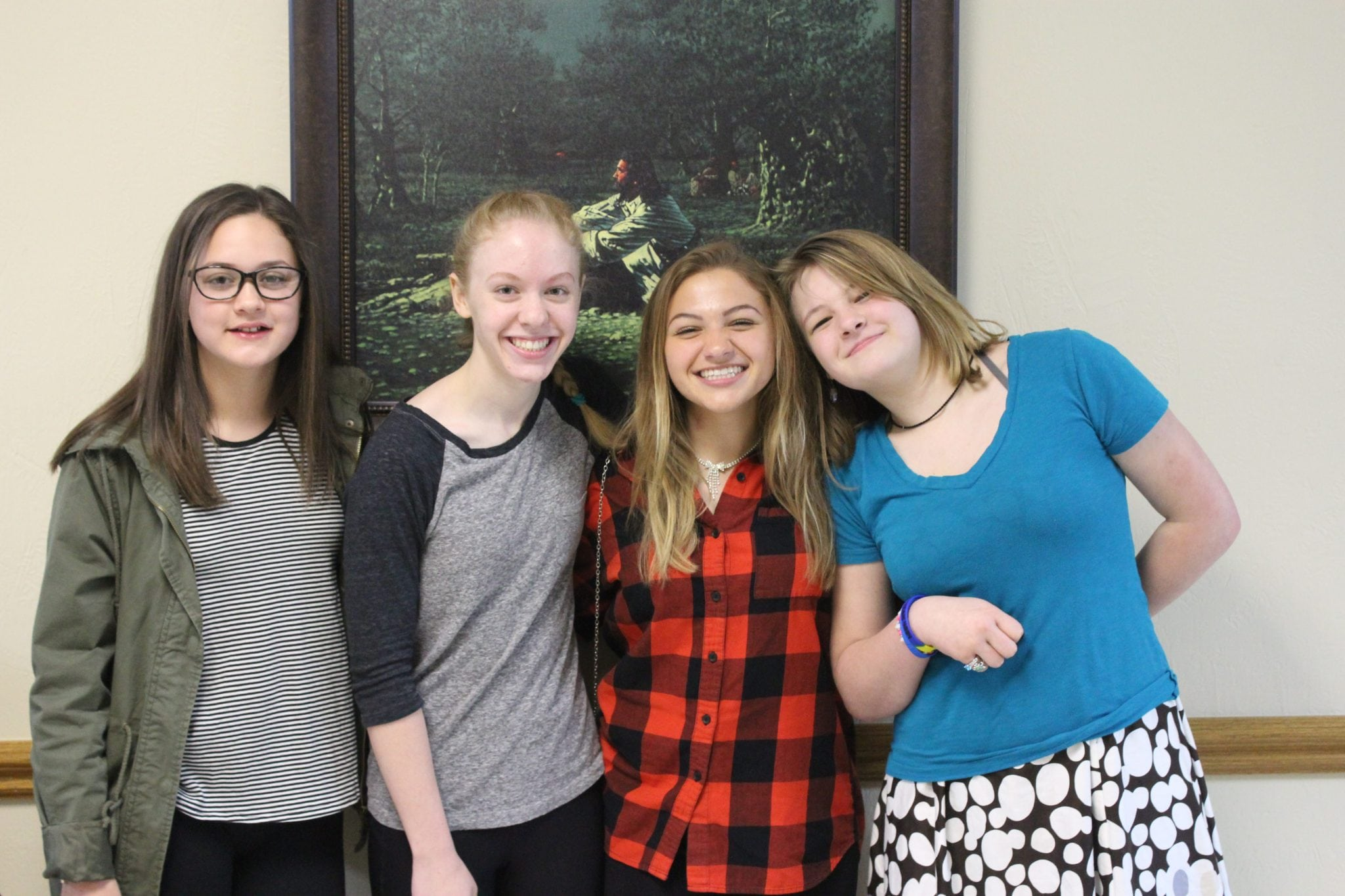 Youth Smiling in Hallways of CRBC