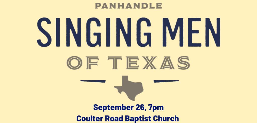 September 26, 7pm Coulter Road Baptist Church