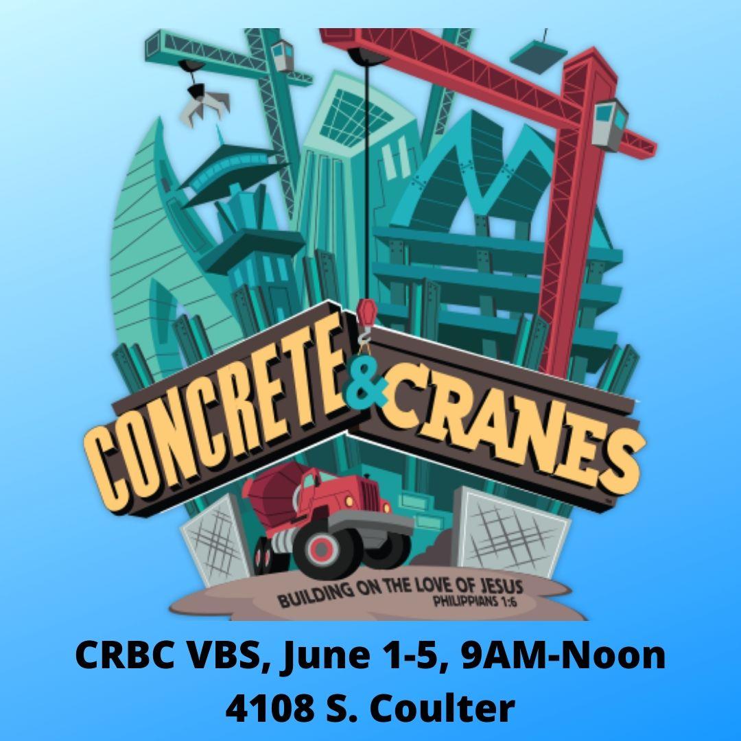 CRBC VBS, June 1-5 More details to come!